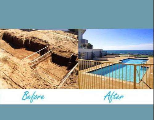Before and After - New Pool